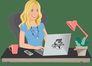 Gretchen illustration without background